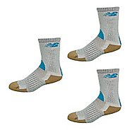 New Balance Technical Elite NBx Trail Crew 3 Pack Socks - Gray/Blue M