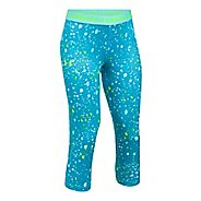 Under Armour Girls Heatgear Printed Capri Pants - Blue Shift YS