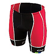 Mens De Soto Forza Tri 4-Pockets Cycling Shorts - Red/Black S