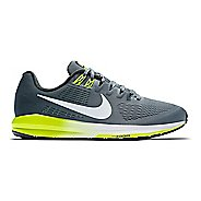 Mens Nike Air Zoom Structure 21 Running Shoe - Grey/Yellow 8
