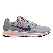 Womens Nike Air Zoom Structure 21 Running Shoe - Grey/Coral 6