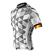 Mens De Soto Skin Cooler Full Zip Tri Short Sleeve Technical Tops - Grey Hive M