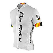 Mens De Soto Skin Cooler Full Zip Tri Short Sleeve Technical Tops - White Arcenciel L