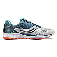 Mens Saucony Ride 10 Running Shoe - Teal/White 11.5