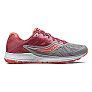 Womens Saucony Ride 10 Running Shoe - Grey/Berry 7