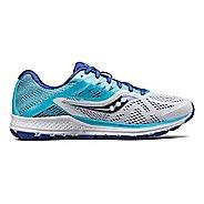 Womens Saucony Ride 10 Running Shoe - Grey/Pink 10.5