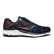 Womens Saucony Ride 10 Running Shoe - Navy Denim 5