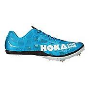 Mens Hoka One One Rocket MD Track and Field Shoe - Cyan/White 9