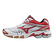 Womens Mizuno Wave Bolt 6 Court Shoe - White/Red 8.5