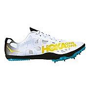 Womens Hoka One One Rocket LD Track and Field Shoe - Black/Cyan 8