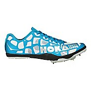 Womens Hoka One One Rocket LD Track and Field Shoe - White/Blue 9.5
