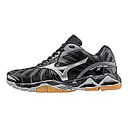 Womens Mizuno Wave Tornado X Court Shoe - Black/Silver 8.5