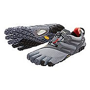 Mens Vibram FiveFingers V-Trail Trail Running Shoe - Grey/Black/Orange 42