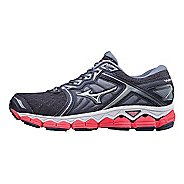 Womens Mizuno Wave Sky Running Shoe - Grey/Pink 10.5