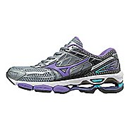 Womens Mizuno Wave Creation 19 Running Shoe - Black/Purple 10.5