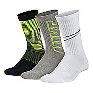 Nike Kids Performance Cushion Socks 3 pack - Black/Grey M