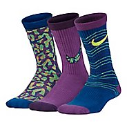 Nike Girls Performance Lightweight Crew Socks 3 pack - Multi S