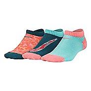 Nike Girls Performance Lightweight No Show Socks 3 pack - Multi S