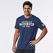 Mens Road Runner Sports Track Club Est. 1983 Graphic Short Sleeve Technical Tops - Heather ...