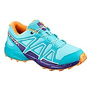 Kids Salomon Speedcross Trail Running Shoe - Blue Curacao 1.5Y