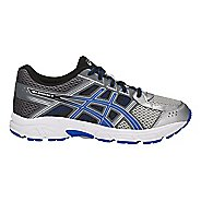 Kids ASICS GEL-Contend 4 Running Shoe - Silver/Blue/Carbon 7Y