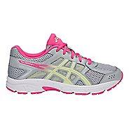 Kids ASICS GEL-Contend 4 Running Shoe - Grey/Limelight/Pink 7Y