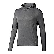Mens adidas Response Astro Hoodie Long Sleeve Technical Tops - Black L
