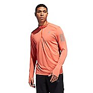 Mens Adidas Response Half-Zip Tee Long Sleeve Technical Tops