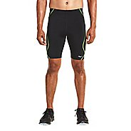 Mens Saucony Endorphin Half Tight Compression & Fitted Shorts - Black/VIZiPRO L