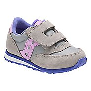 Kids Saucony Baby Jazz Hook and Loop Casual Shoe - Grey/Periwinkle 5C