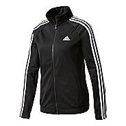 Womens adidas Designed-2-Move Track Top Long Sleeve Technical Tops - Black/White L