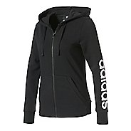 Womens adidas Essential Linear Full-Zip Casual Jackets - Black/White XL