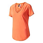 Womens Adidas ID V-Tee Short Sleeve Technical Tops