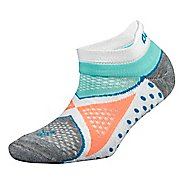 Balega Enduro No Show Socks - White/Aqua M