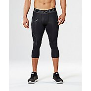 Mens 2XU Accelerate Compression 3/4 Crop Tights - Black/Nero M