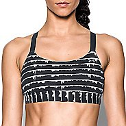 Womens Under Armour Eclipse Mid Printed Sports Bra - Black/Metallic L