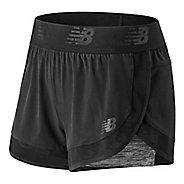 Womens New Balance Transform 2-in-1 Shorts - Black S