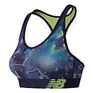 Womens New Balance NB Pace Printed Sports Bras - Solar Yellow M