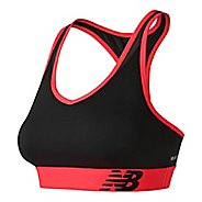 Womens New Balance NB Pace Sports Bras - Black Multi M