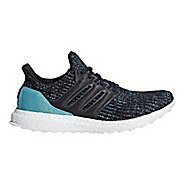 Mens adidas Ultra Boost Parley Running Shoe - Blue/Carbon 10