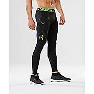 Mens 2XU Refresh Recovery Compression Tights & Leggings Tights - Black/Nero XL-T