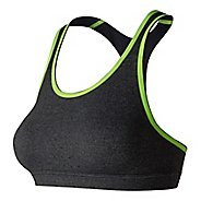 Womens New Balance NB Trinamic Sports Bras - Heather Charcoal S