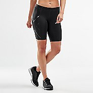 Womens 2XU Core Compression & Fitted Shorts - Black/Nero L