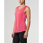 Womens 2XU X-CTRL Sleeveless & Tank Tops Technical Tops - Fandango Pink/Silver S