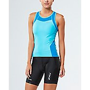 Womens 2XU X-VENT Tri Singlet Sleeveless & Tank Tops Technical Tops - Blue Atoll/Blue XS