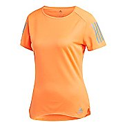 Womens adidas Response T-Shirt Short Sleeve Technical Tops - Orange S