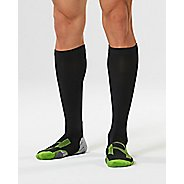 Mens 2XU Compression Socks for Injury Recovery - Black/Grey M
