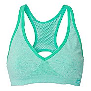 Womens Zensah Racey Sports  Bras - Heather Mint M
