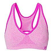 Womens Zensah Racey Sports  Bras - Light/Pastel Pink M