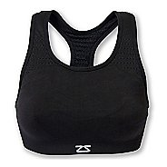 Womens Zensah Seamless Sports  Bras - Black M/L